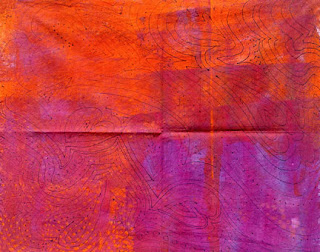 hand dyed fabric by Robin Atkins, bead artist