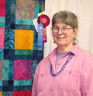 Layne's Quilt by Robin Atkins, ribbon winner at 2007 County Fair