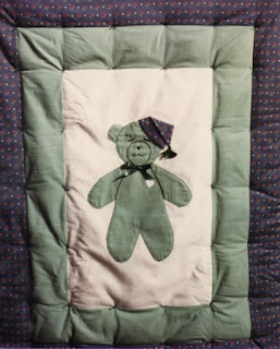 Layne's baby quilt, made by Robin Atkins