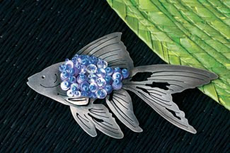 Metalsmithing 101 for Beaders, fish pin project