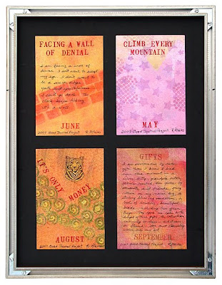 Bead Journal Project, Robin Atkins, 4 on orange, back