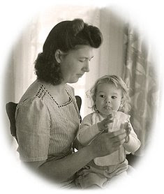 baby Robin and Mom, 1943