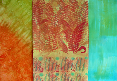 hand dye-painted fabrics by Robin Atkins