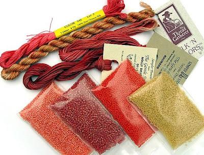bead journal project, Robin Atkins, materials