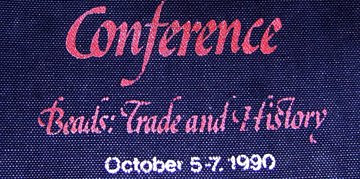 International Bead Conference tote bag, detail
