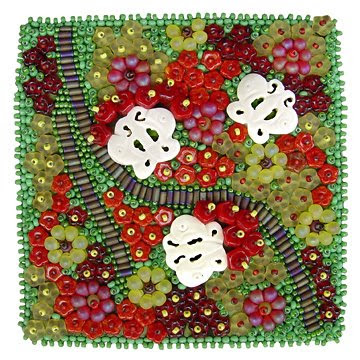 bead embroidery, bead journal project, May 08, Christy H