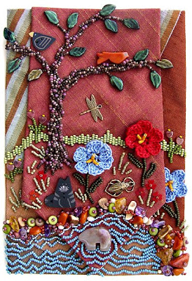 bead journal project, Robin Atkins, I Miss You Dad
