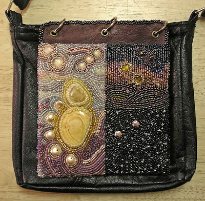 bead journal project, purse and one BJP piece by Morwyn D