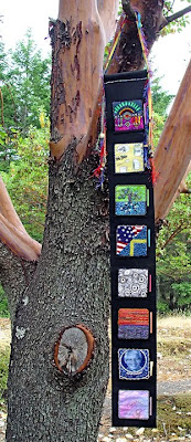 bead journal project, banner featuring 8 pieces by Trish L