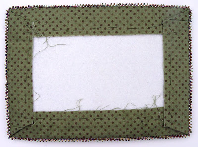 bead embroidery with fabric borders, back side, by robin atkins