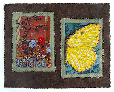 memory box lid showing attached bead embroidery by robin atkins