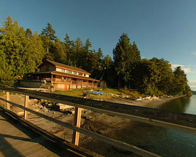 main lodge at Camp Orkila, Orcas Island, WA