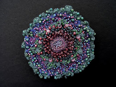 Tide Pool, beaded brooch by Elaine Hartley