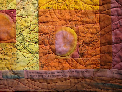 art quilt by Judie Hoyman, Somewhere, detail