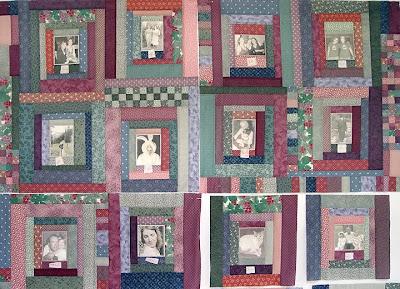 Margaret's quilt, top 12 blocks, in process
