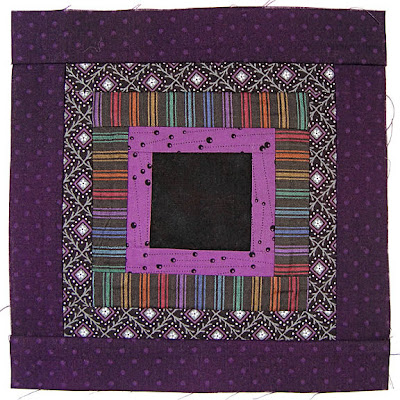 God's Eye Quilt, block 5, by Robin Atkins