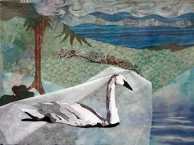 Karin Franzen workshop, swan by student