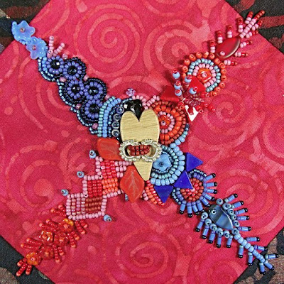 bead embroidery by Robin Atkins, BJP, detail