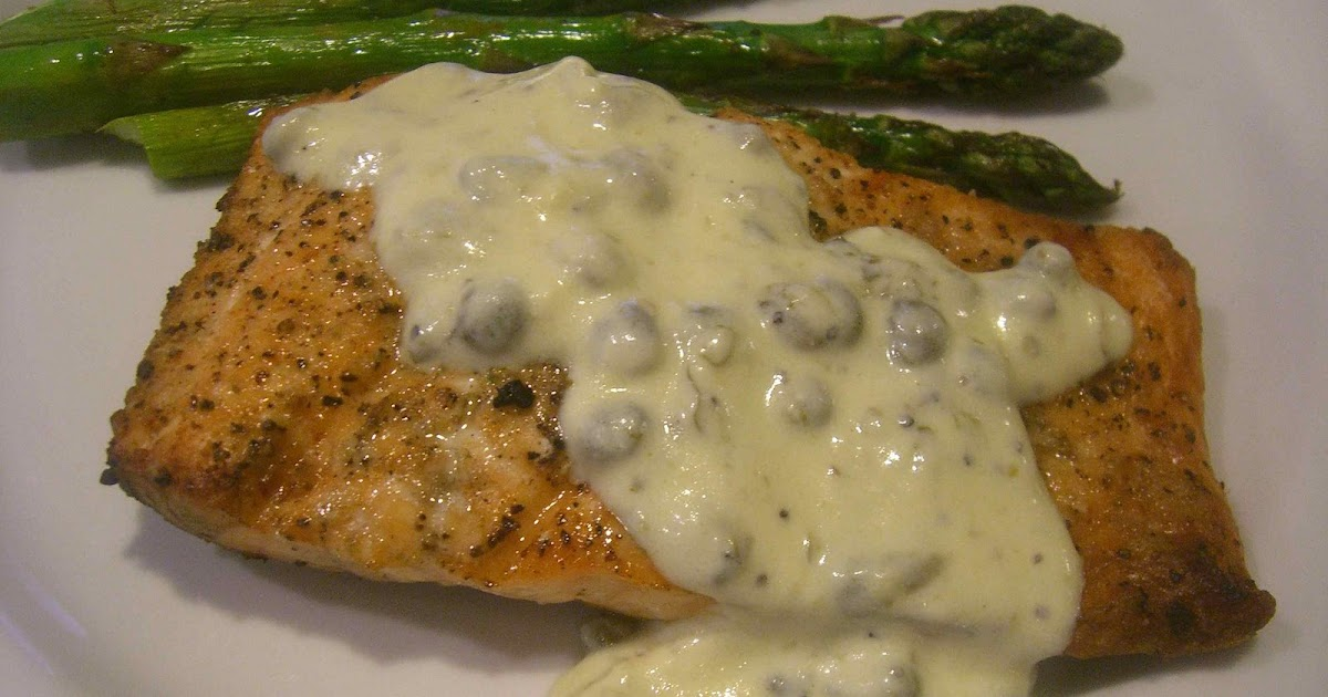 Jaime and Jen Dish: Broiled or Grilled Salmon with Creamy Lemon Sauce