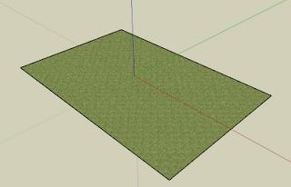 Trawa na projekcie w Google SketchUp