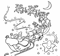 desen colorat Mos Craciun