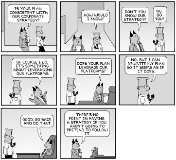 Dilbert, corporate strategy