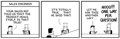 Dilbert - Sales Engineer