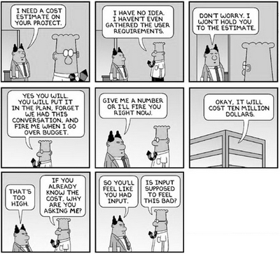 Dilbert - estimating project cost