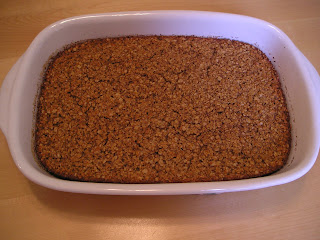 baked oatmeal in a baking dish
