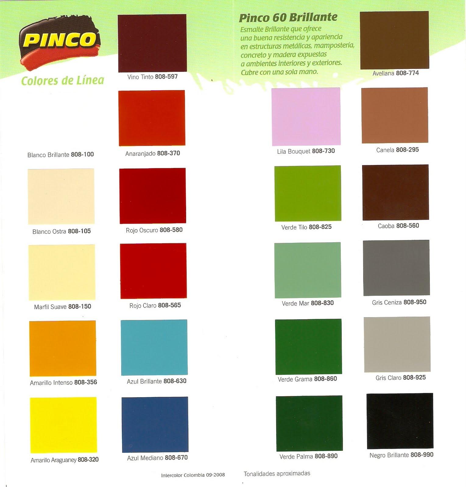 Inversiones fertorca c a pinturas av 2000 dekoral pinco - Pintura para madera colores ...