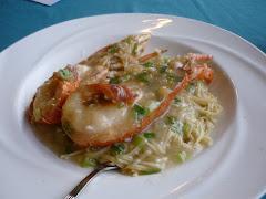 Lobster e-fu noodles, Lamma Island