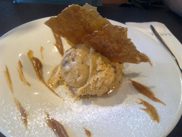 Nougatine Ice Cream, Canele, Dessert