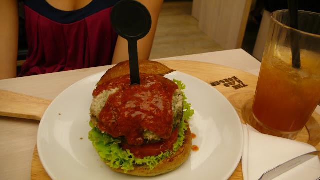 Portobello Burger, Parmesan Cheese