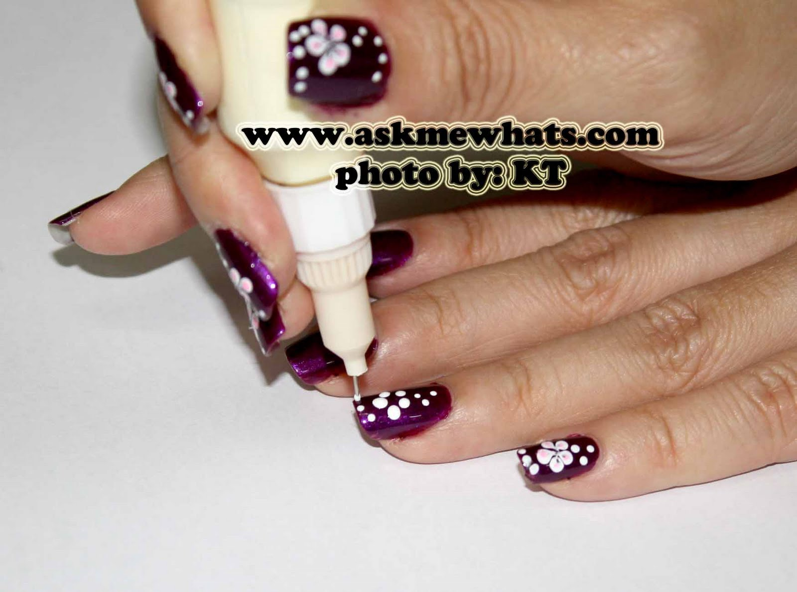"Nail Art Tutorial: ""Hawaiian Grimace"" Nails"