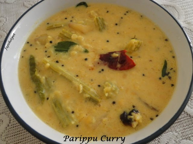 Fajis hot pot parippu curry version 1 to avoid those things i use masoor dal and dont worry about the taste this too tastes goodw well go to the recipe forumfinder Image collections