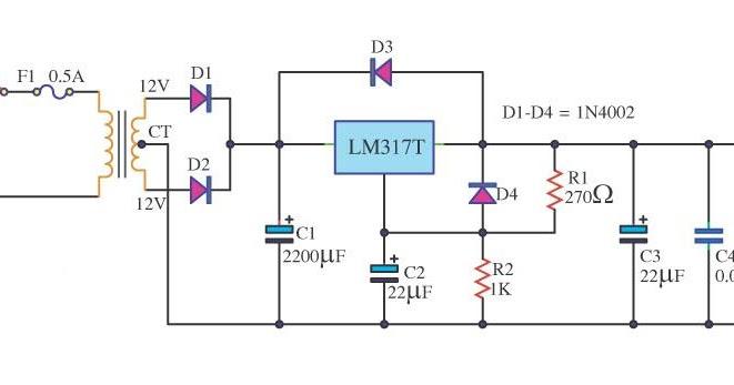 Lm317 6v Dc Power Supply Circuit