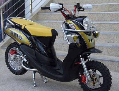 Modifikasi Motor Matic: Yamaha Fino Off Road Trail Modification