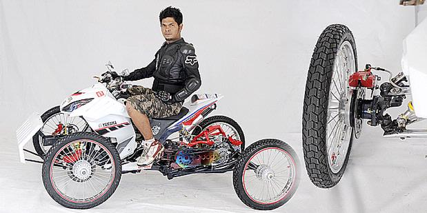 Modification Yamaha Mio ATV Style Concept
