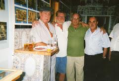 De izquierda a derecha los boxeadores: Calero, Prieto, Santos y Olmedo.