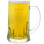 Official England Glass Tankard