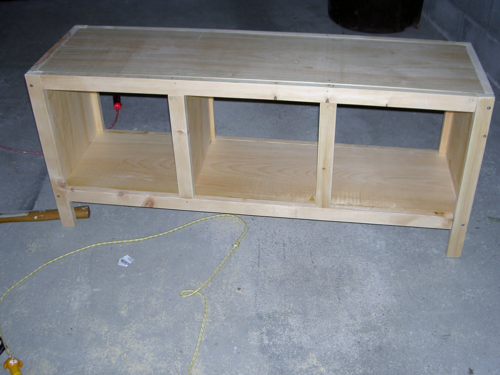 ana three projects white diy bench cube