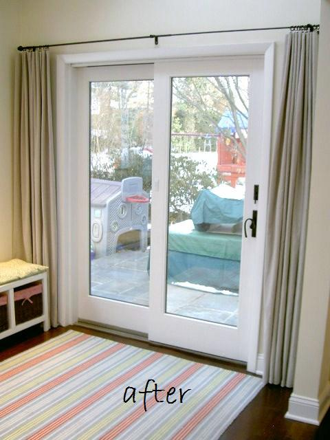 Sliding glass door makeover jaime costiglio for Small sliding glass patio doors