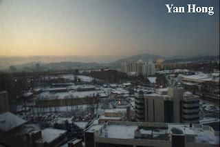 南韩严寒冬季