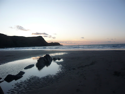 Sunset on a beach in Pembrokeshire ahhhh