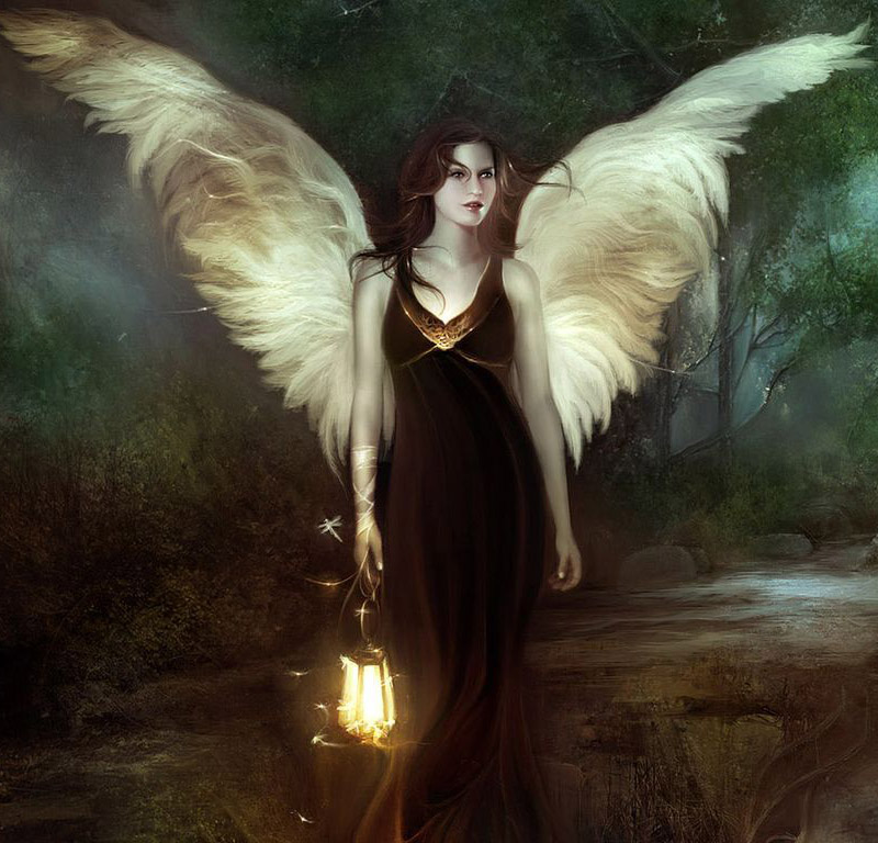 angeles de amor. imagenes de angeles enamorados