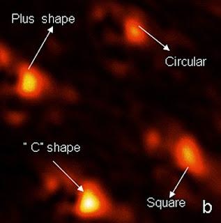 laser light on 30-nanometer spots using various apertures