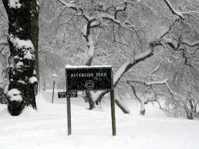 Winter in Riverside Park NYC