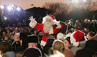 Santa Claus arrives Thursday evening, Dec. 7, 2006, for the 2006 Christmas Pageant of Peace and lighting of the National Christmas Tree on the Ellipse in Washington, D.C. White House photo by Kimberlee Hewitt.