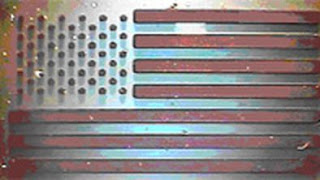 Carbon nanotube arrays can also be grown in intricate patterns using metal masks. The figure above shows a CNT array (optical image) of the American flag. University of Cincinnati.