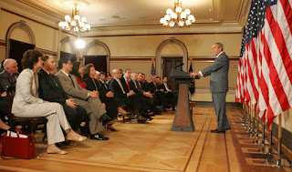 President George W. Bush speaks during a briefing on comprehensive immigration reform Tuesday, June 26, 2007, in the Eisenhower Executive Office Building. Said the President, 'The first thing that we've got to recognize in the country is that the system isn't working. The immigration system needs reform. The status quo is unacceptable.' White House photo by Joyce N. Boghosian 